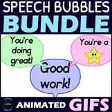 Animated GIF Speech Bubbles Clipart GROWING BUNDLE