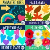 Animated GIF bundle - hearts, basic shapes, flowers and leaves