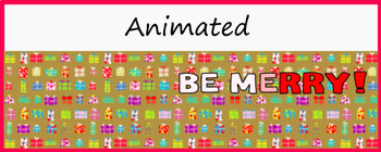 "Animated Google Classroom Header  ""Be Merry!"""