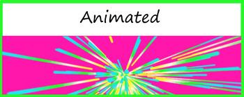 "Animated Google Classroom Header  ""Burst"""