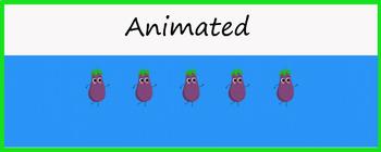 "Animated Google Classroom Header  ""Dancing Eggplants"""
