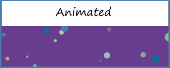 "Animated Google Classroom Header  ""Floating Circles"""