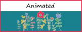 Animated Google Classroom Headers (Garden) - Distance Learning