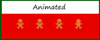 "Animated Google Classroom Header  ""Gingerbread Men"""