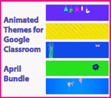 Animated Google Classroom Headers (April) - Distance Learning