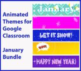 Animated Google Classroom Headers - January Bundle