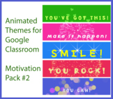 Animated Google Classroom Headers (Motivation Pack #2) - D