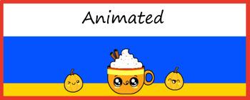 Animated Google Classroom Headers (Pumpkin Spice Freebie) Distance Learning