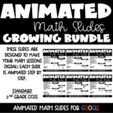 Animated Google Math Lessons for Distance Learning Growing Bundle