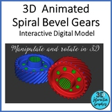 Animated Spiral Bevel Gears- 3D - STEM Graphic for Whitebo