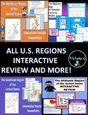 Animated Interactive BUNDLE FOR all 5 U.S. Regions Editable PPT