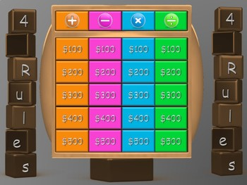 Animated Interactive Maths Gameshow - 4 Rules (worded questions)