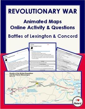 American Revolution Animated Maps: Lexington & Concord Onl
