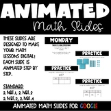 Animated Math Lessons for Distance Learning