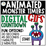 Animated Monster GIFs | Countdown Timers | Moveable Clipart