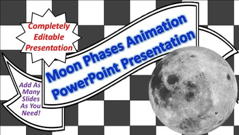 """Animated """"Moon Phases"""" PowerPoint Background"""