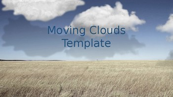Animated Moving Clouds Powerpoint Template