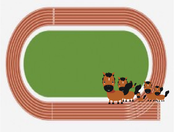 Animated PowerPoint Articulation Material - Horse, Race, Run