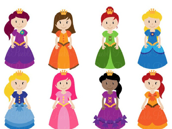 Animated PowerPoint Articulation Material - Princess / Muff