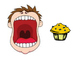 Animated PowerPoint Articulation Material / Story - muffin, cupcake