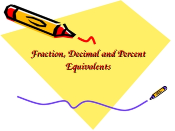 Animated Powerpoint Fraction, Decimal Equivalents