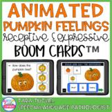 Animated Pumpkin Feelings - Receptive & Expressive Boom Cards™