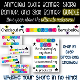 Animated Quote Banner, Store Banner, and Side Banner Colorful BUNDLE