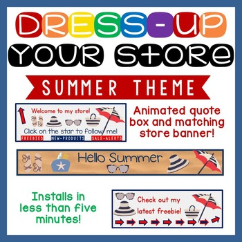 Animated Quote Box, Store Banner, and Side Banner - Summer