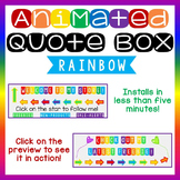 Animated Quote Box Banner - Rainbow