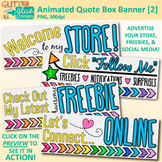 Animated Quote Box Banner 2 | Animated GIF for Your Teache