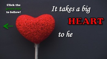Animated Quote Box Banner - Big Hearts, Little Minds