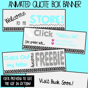 Animated Quote Box Banner GIF