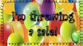Animated Quote Box Banner - I'm Throwing a Sale!