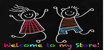 Animated Quote Box Banner - Kids on Chalkboard