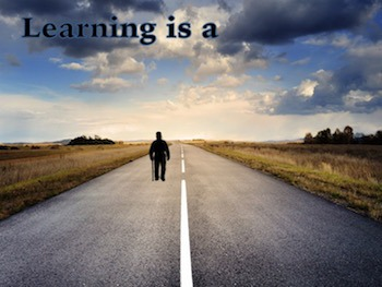 Animated Quote Box Banner - Learning is a Journey Quote