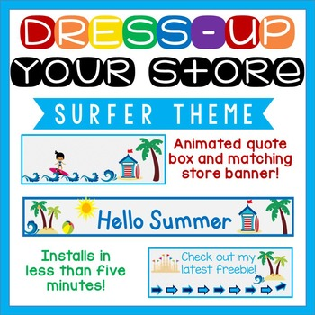 Animated Quote Box, Store Banner, and Side Banner - Surfer