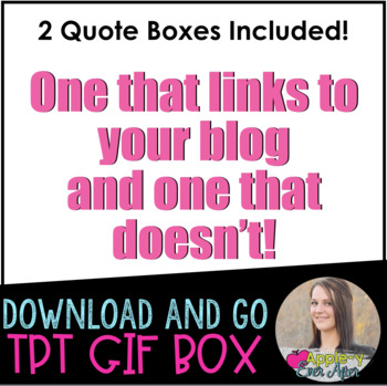 Cool Blue Animated Quote Box EASY INSTALL Gif!