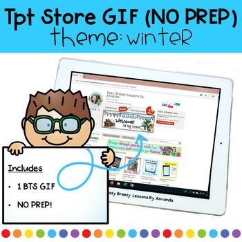 Animated Quote Box (GIF) Theme: Winter NO PREP