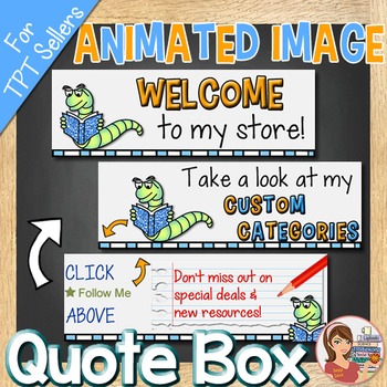 Animated Quote Box Image [GIF for TpT Store]