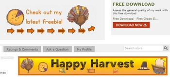 Animated Quote Box, Store Banner, and Side Banner - Happy Harvest