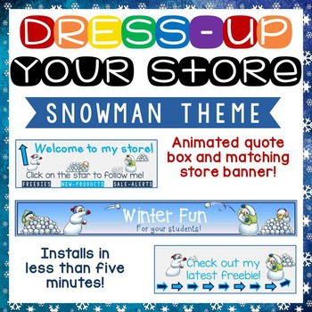 Animated Quote Box, Store Banner, and Side Banner - Snowball Fight