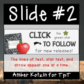 Apple and Notebook Theme: Animated Quote Box for TpT Sellers