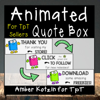 Book Theme: Animated Quote Box for TpT Sellers