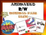 Animated R/W Minimal Pair Deck BOOM Cards!