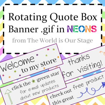 Animated Quote Box Banner Gif Rotating Neons with Directions