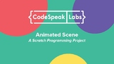 Animated Scene: Creative Writing + Code