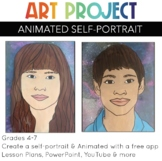 Art Project Animated Self Portrait free tech STEAM for elementary and middle