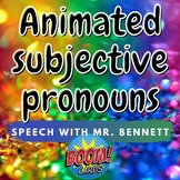 Animated Subjective Pronouns BOOM Cards