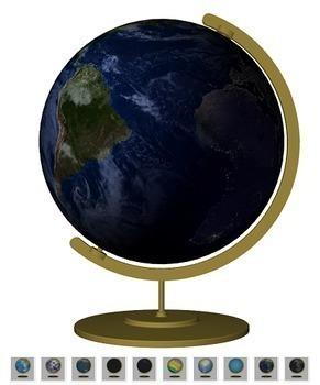 Globe - Animated Teaching Globe - 3D Graphics for Whiteboards