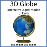 Earth Animated Teaching Globe 3D Models for Smartboards or Distance Learning
